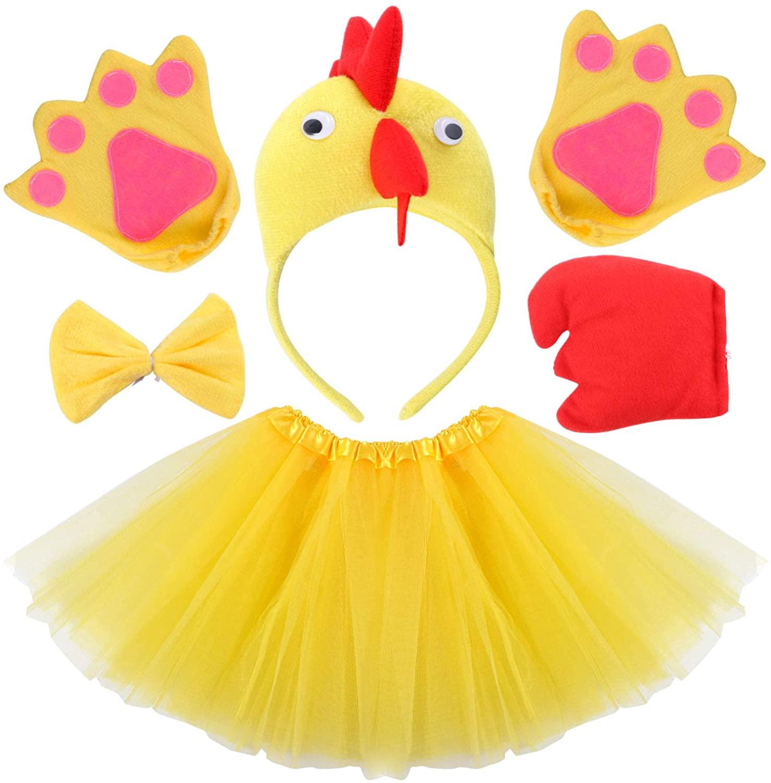 Kids Animal Costume Fancy Dress Up Birthday Party Halloween Costume for Girls