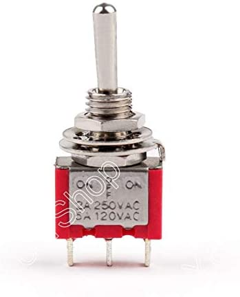 MTS-103 Toggle Switch Mini 6mm 3 Pin 3 Position ON-Off-ON 5A/125VAC 2A/250VAC 2PCS Newe