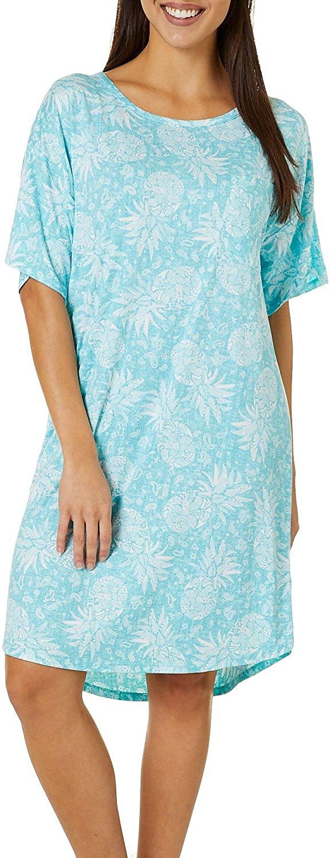 Jaclyn Intimates Womens Lush Luxe Pineapple Sleep Dress