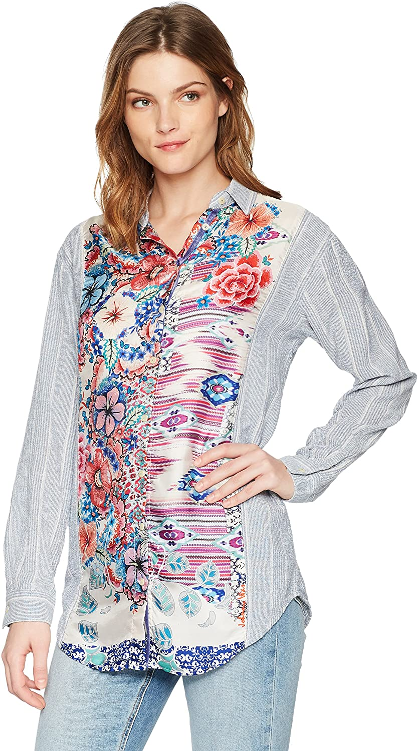 Johnny Was Women's Biorla Scarf Mix Shirt