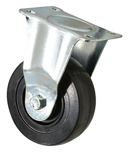 The Fairbanks Company 13-4-HR - Series 13 Medium-Duty Casters, Plain Bearing, Swivel, Solid Rubber Hard, 300 lb. Load Capacity, 4