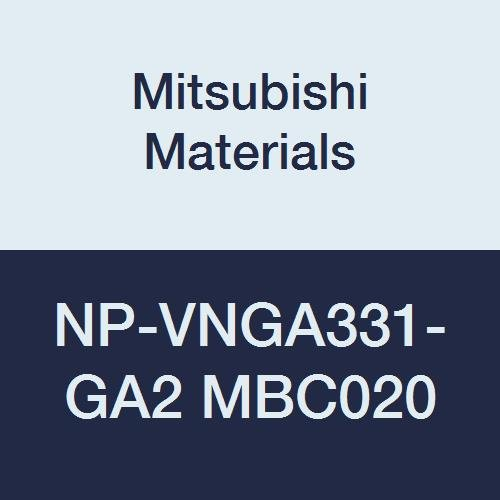 Mitsubishi Materials NP-VNGA331-GA2 MBC020 Coated CBN VN Type Petit Tip Negative Turning Insert with Hole, Rhombic 35°, GA Honing, No Wiper, 2 Tip, 0.375