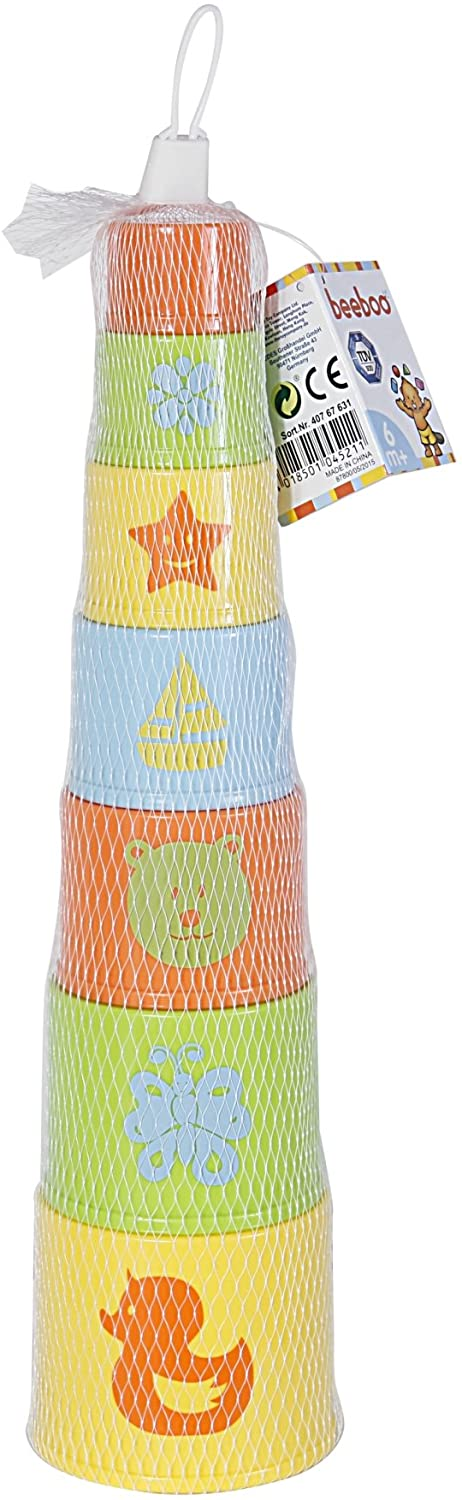 VEDES Großhandel GmbH - Ware BEEBOO Baby Pyramid Round, 7 Pieces