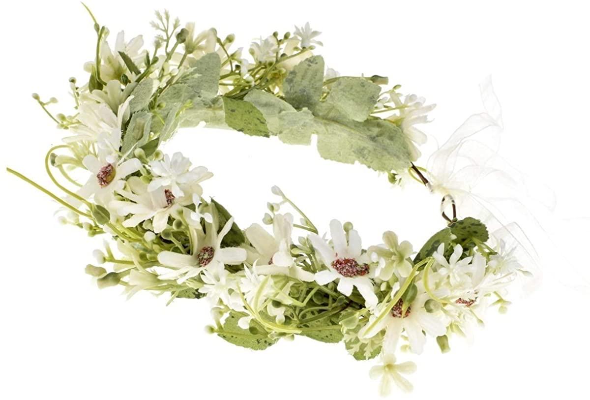 Vividsun Boho Girl Flower Crown Floral Headpiece Wedding Festivals Photo Props