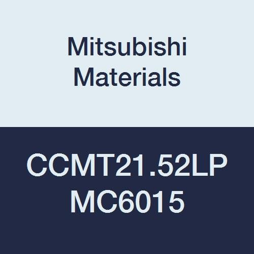 Mitsubishi Materials CCMT21.52LP MC6015 CVD Coated Carbide CC Type Positive Turning Insert with Hole, Rhombic 80°, 0.25