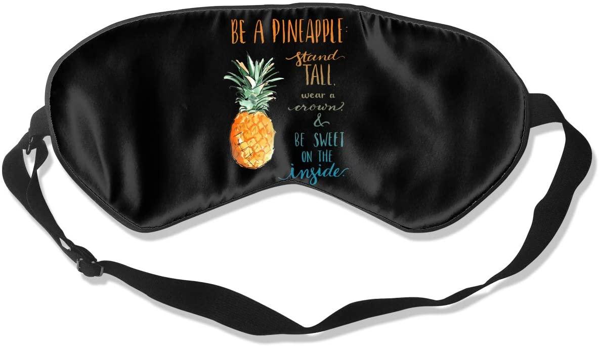 Be A Pineapple Eye Mask Sleeping Mask 100% Double-Sided Silk Eyeshade Eye Cover