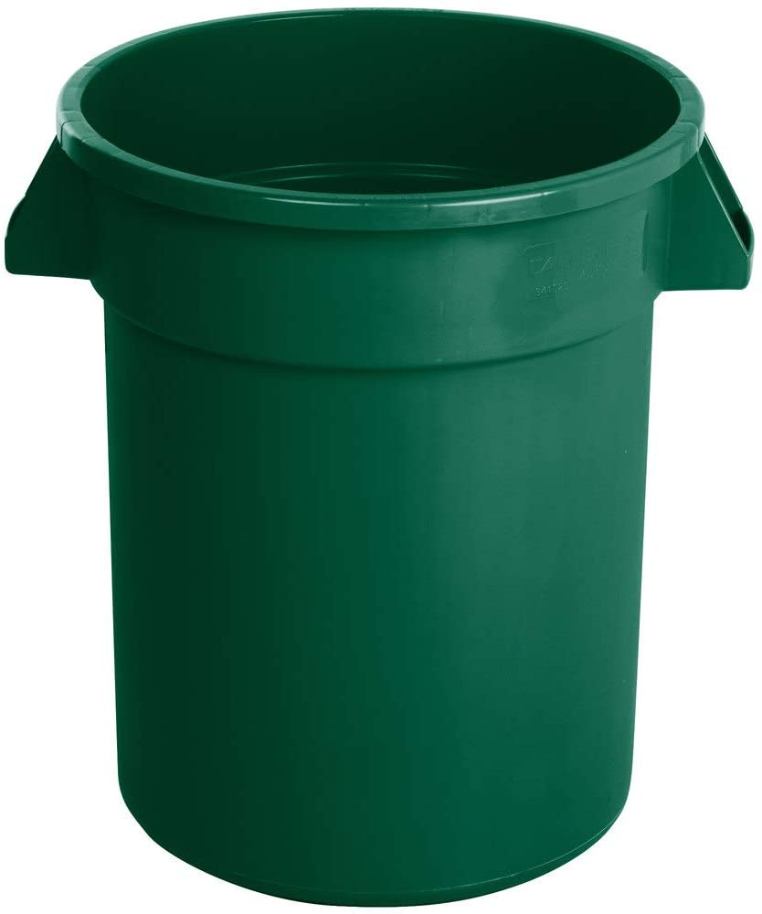 12 Pack! 20 Gallon / 75 Liters Green Trash Can. Trash Container. Trash Bucket. Garbage Bin. Waste Bin. Home Trash Can. Commercial Waste bin