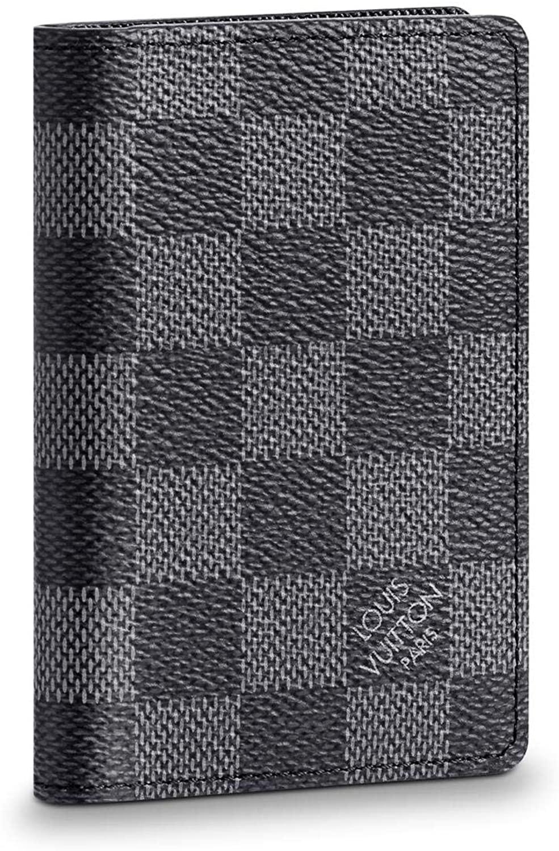 Louis Vuitton Pocket Organizer Damier Graphite Canvas Wallet Card Case