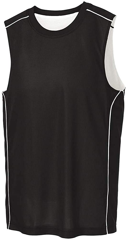 DRIEQUIP Mens Moisture Wicking Mesh Reversible Sleeveless Tee Sizes XS-4XL