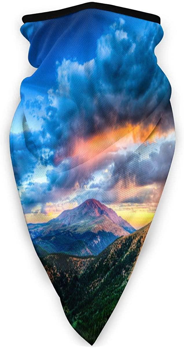 Sport Scarf Face Sun Maskbeautiful Nature Landscape, Mountains, Forest, Lake, Clouds, Sunset Dustproof Windproof Variety Head Scarf Balaclava For Women Men