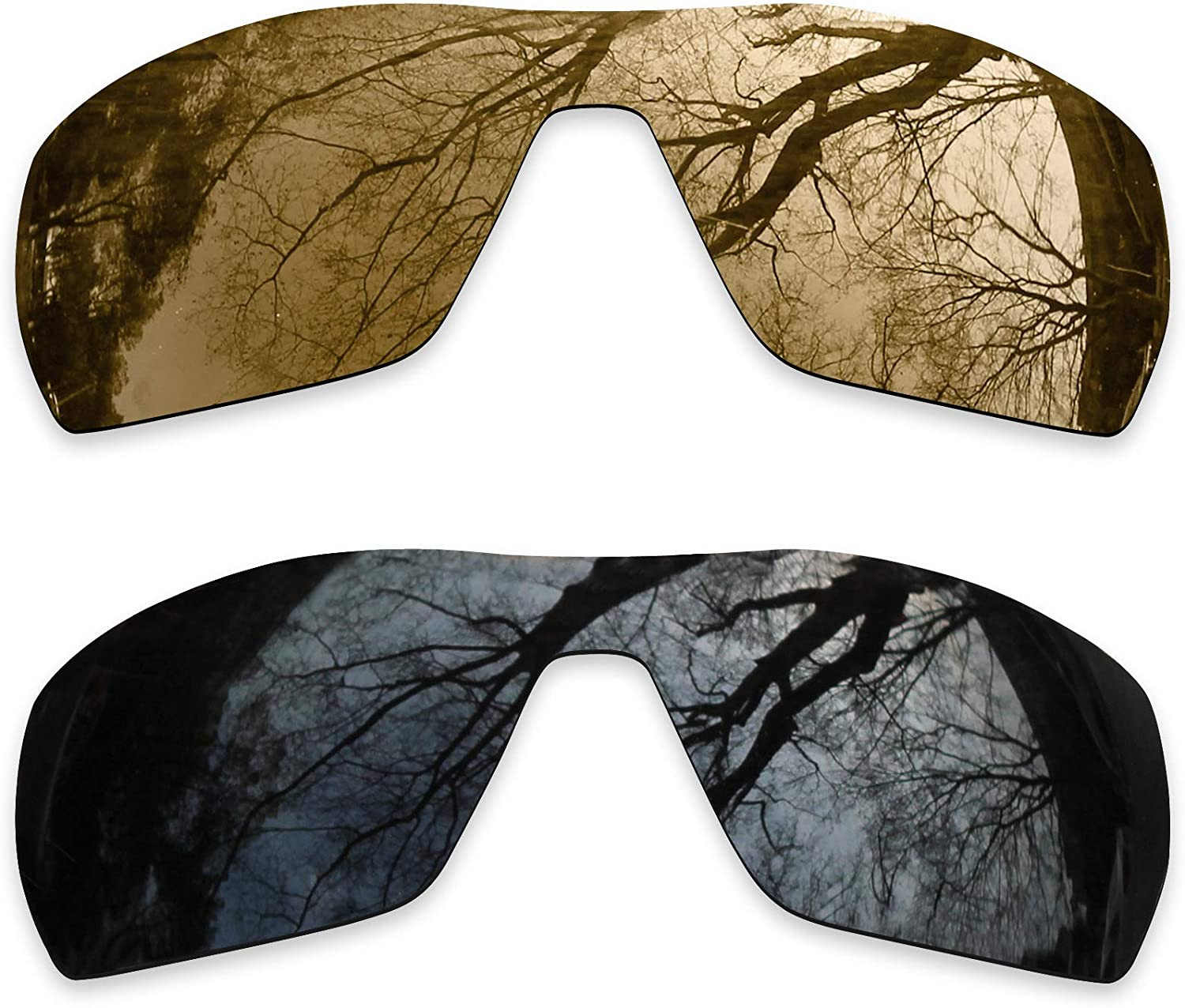 2 Pair Polarized Lens Replacement for Oakley Offshoot Bronze Gold&Black