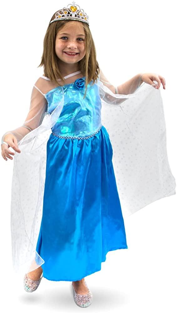 Ice Princess Childrens Halloween Costume - Frozen Winter Dress