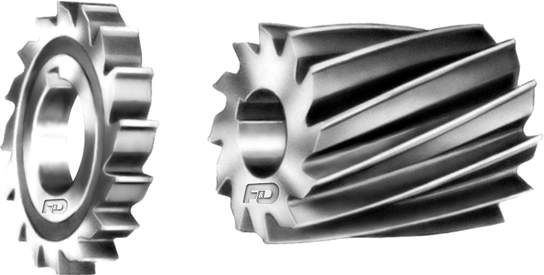 F&D Tool Company 10555-A188 Plain Milling Cutter, Light Duty, High Speed Steel, 4