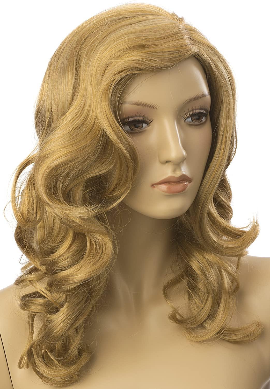 Displays2go Female Mannequin Wig, 20-Inch, Long Hair, Blonde