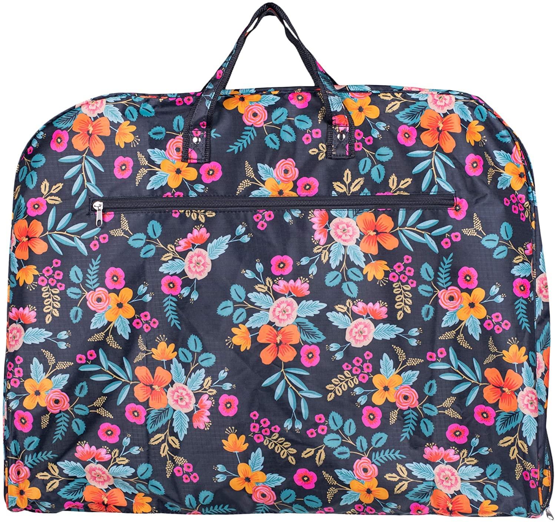 Folding Full Length Zipper Hanging Marion Floral 39 x 25 Fabric Garment Bag