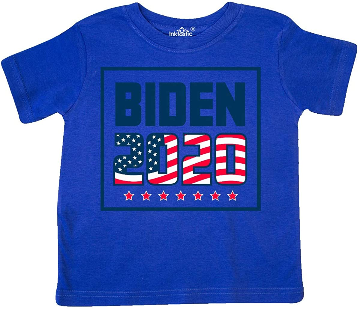 inktastic Biden 2020 with Stars and Flag Toddler T-Shirt