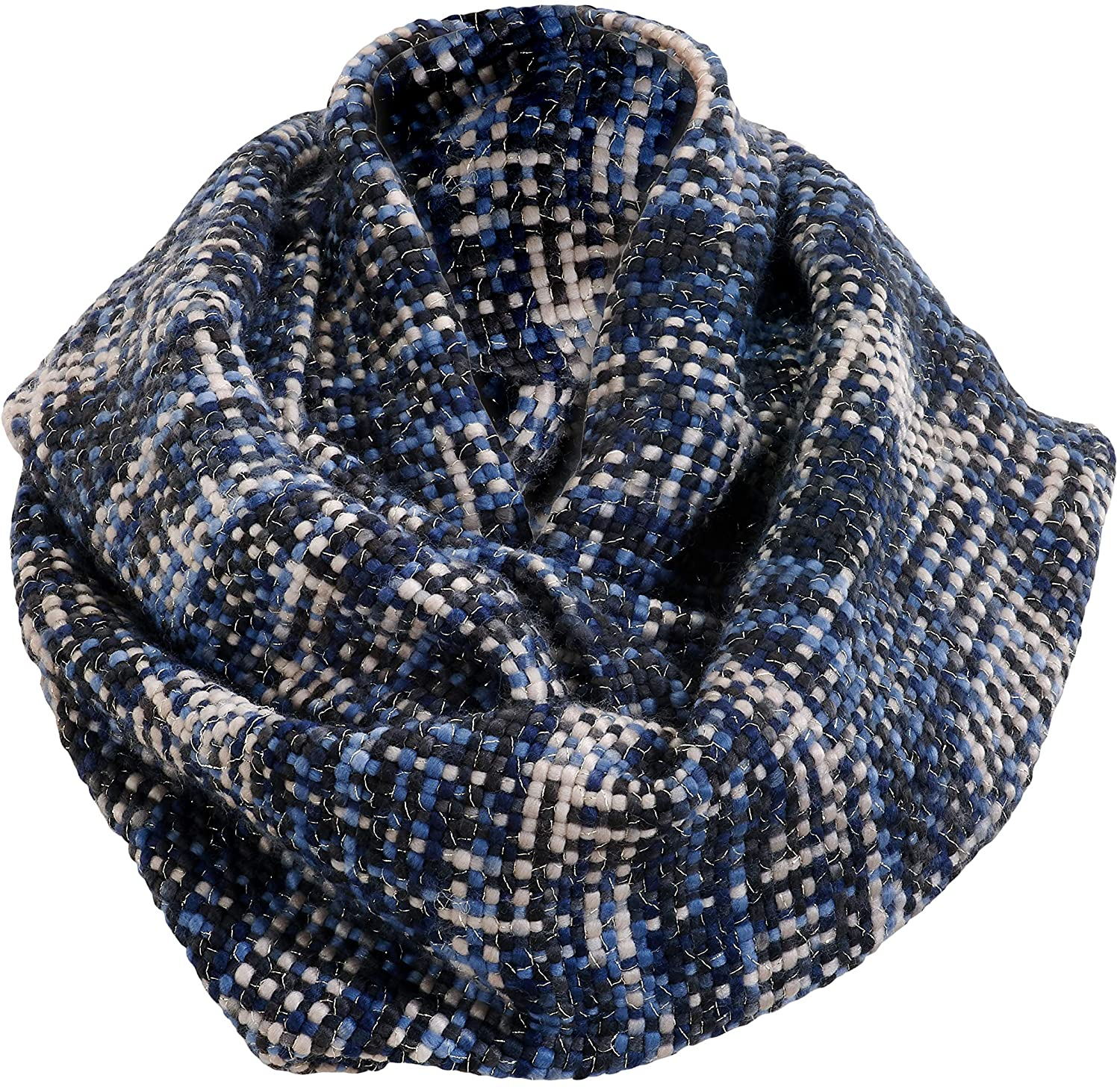 Blue Woven Threads Women's One Size Acrylic Fashion Infinity Scarf