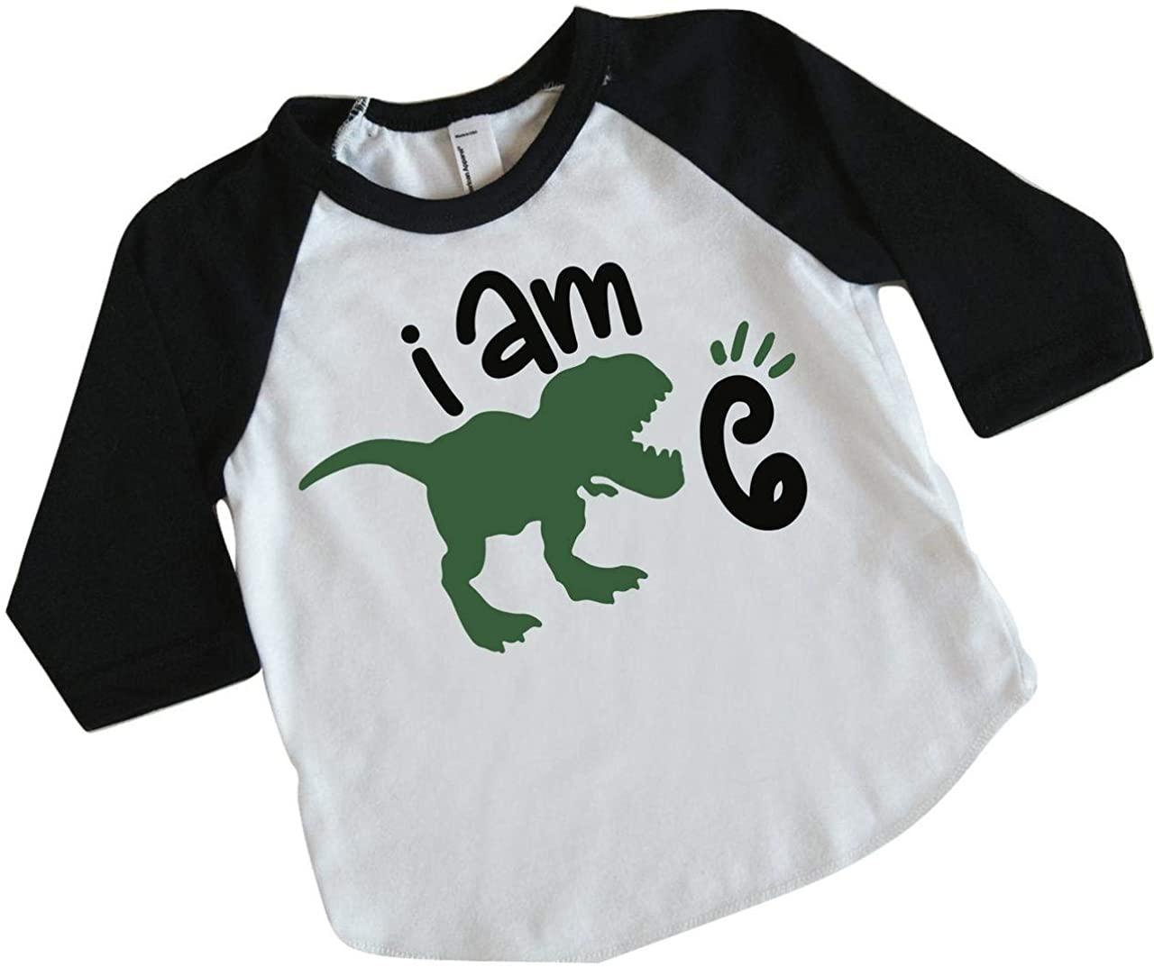 Six Birthday Dinosaur Shirt for Boys Sixth Birthday Dinosaur Outfit