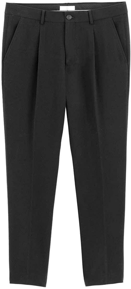 La Redoute Collection Mens Pleat Front Trousers, Length 28