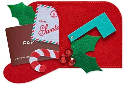Papyrus Felt Mailbox Gift Card Holder - Christmas