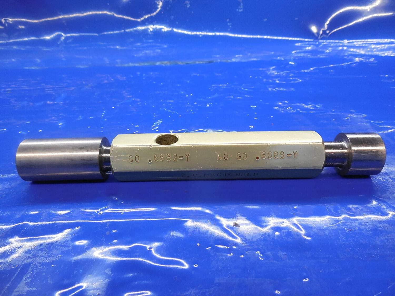 .6882 & .6889 Dia. Class Y Smooth PIN Plug GAGE GO NO GO Oversize .6875 11/16