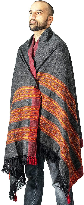 Meditation Shawl | Plain Meditation Blanket, Prayer Shawl or Wool Wrap