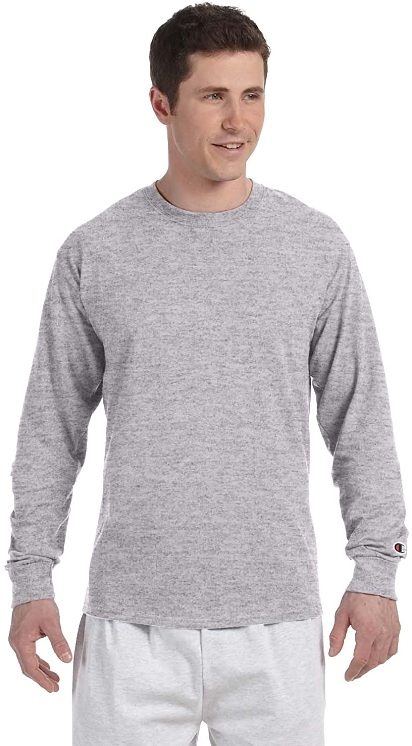 Champion Adult Long Sleeve Taped Crewneck Fitted T-Shirt