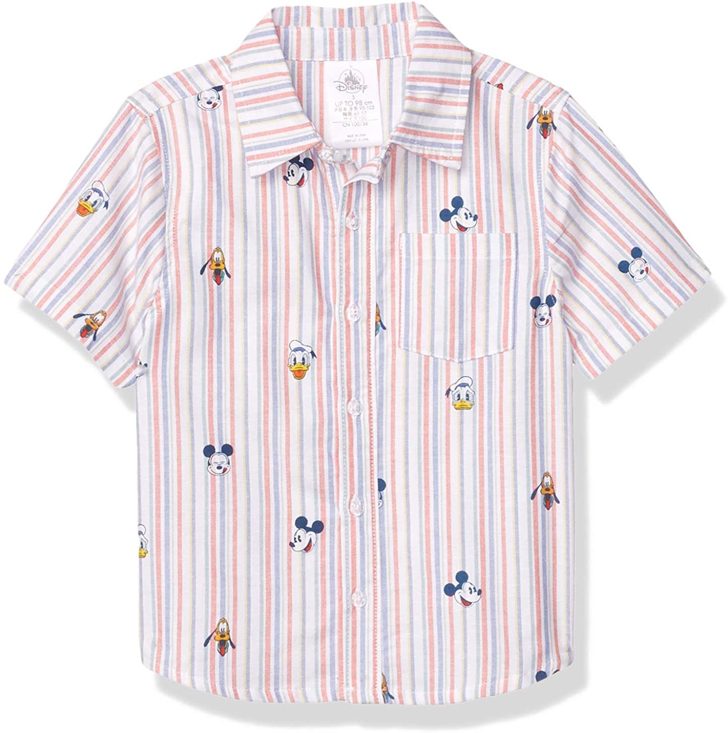 Disney Mickey Mouse and Friends Summer Fun Woven Shirt for Boys