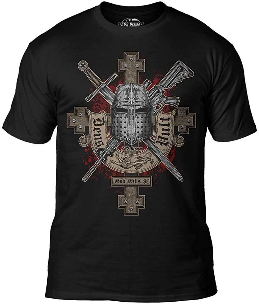 7.62 Design Deus Vult Premium Mens T-Shirt