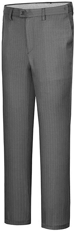 Suxiaoxi Men's Fashion Striped Wrinkle-Free Dress Pants