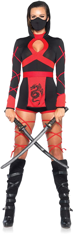 Leg Avenue Women's 3 Piece Dragon Ninja Costume