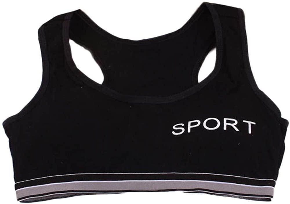 Fullyday Kids Teen Girls Training Sport Bra, 10-15T Children Comfort Tank Top Underwear Bra Vest Flex Fit Underclothes