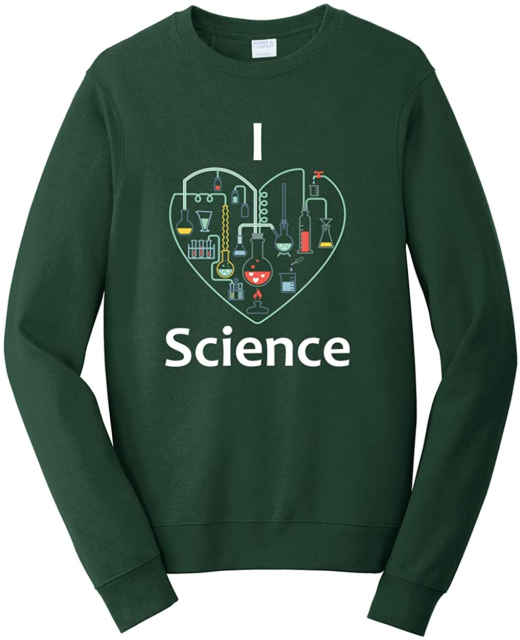 Tenacitee Unisex I Heart Science Sweatshirt
