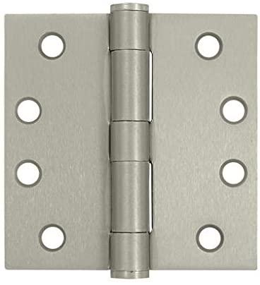 4 in. x 4 in. Heavy Duty Square Steel Hinge - Pair (Set of 10) (Heavy Duty - Oil Rubbed Bronze)