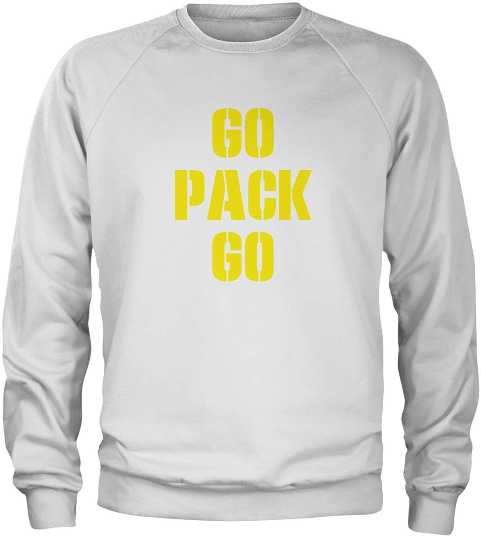 Expression Tees Go Pack Go Green Bay Crewneck Sweatshirt