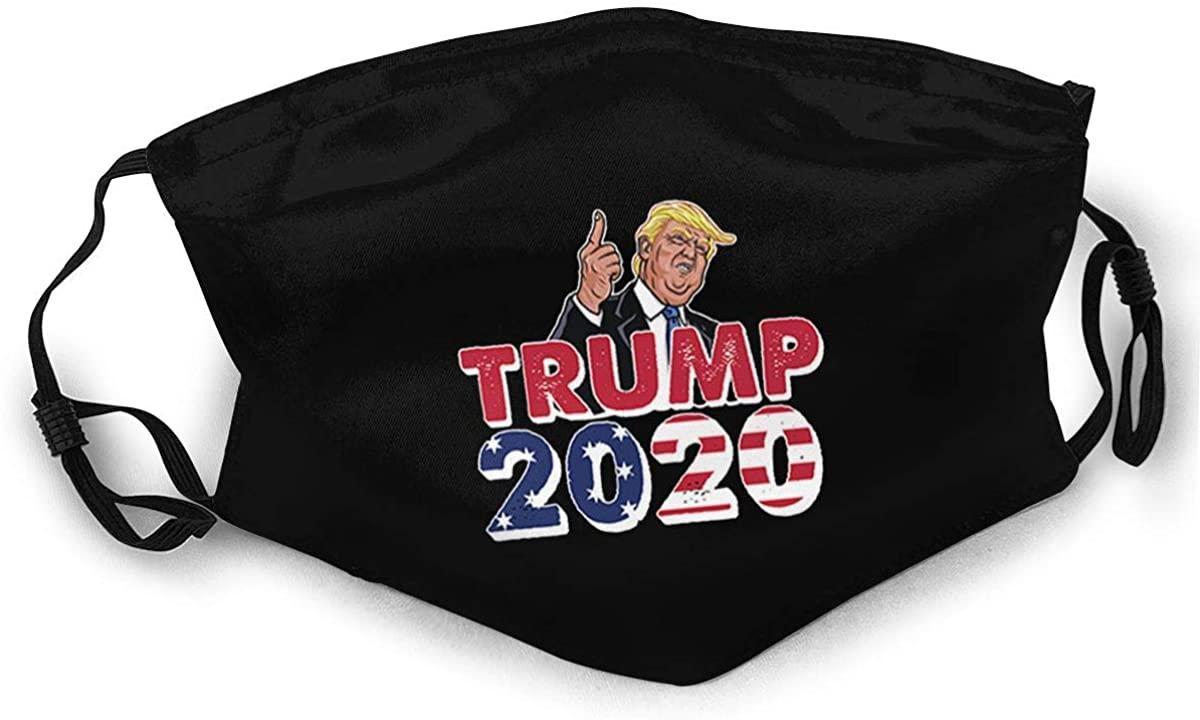 All Aboard The Trump Train 2020 dust mask Scarf Scarf face Scarf Black