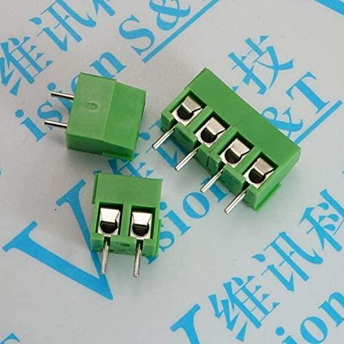 Davitu Terminals - 3.96MM KF3960 MG396 PCB Screw Terminal Block 2P 3P 4P 5P 6P 7p 8p 9p 10p 11p Splice Terminals Connector Can be stitched - (Pins: 3P)