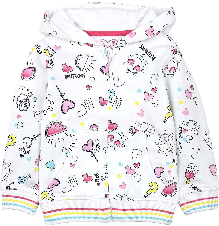 Losan Girls Sweatshirt in All-Over Print, Sizes 2-7