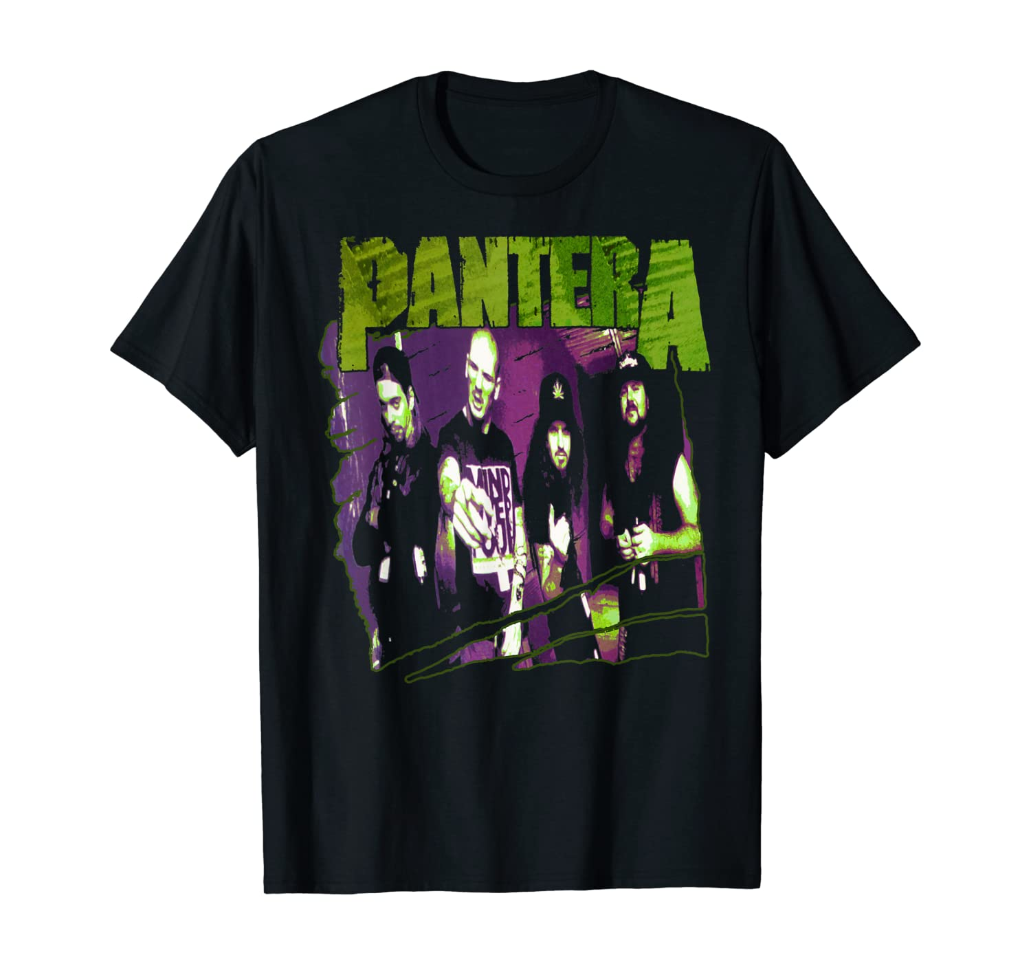 Pantera Official Vintage Group Sketch T-Shirt