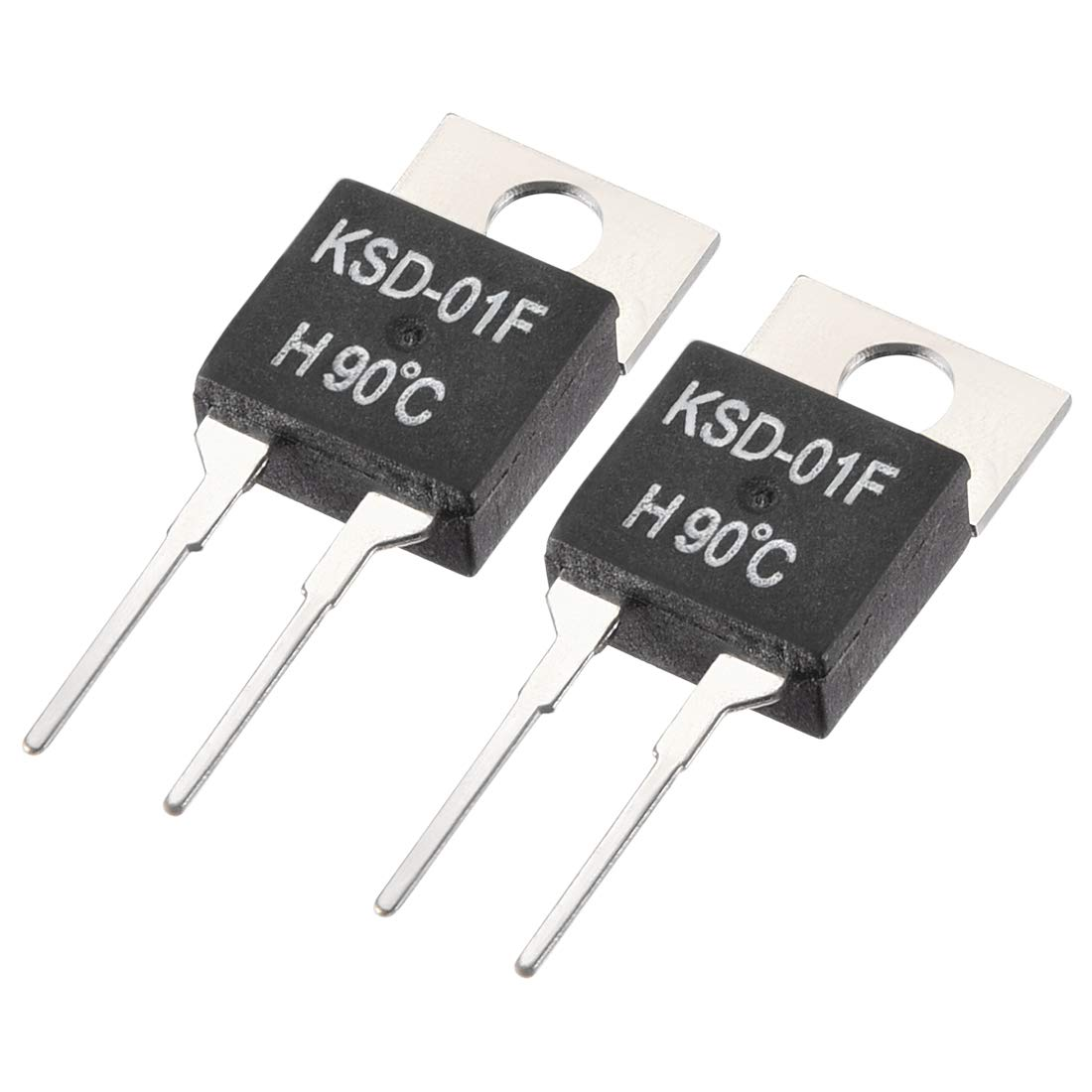 uxcell Normally Open Temperature Switch, KSD-01F Thermal Switch Thermostat Temperature Controller 90℃ N.O 2pcs