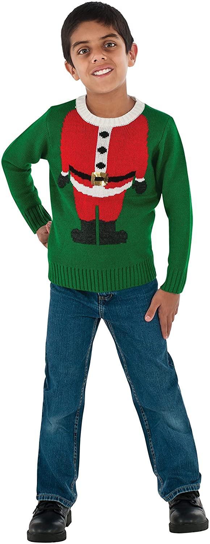 Rubie's Costume Santa Head Ugly Christmas Sweater Costume, One Color, Medium