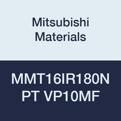 Mitsubishi Materials MMT16IR180NPT VP10MF MMT Series Carbide G-Class Internal Ground Threading Insert, NPT Type, Right, Grade VP10MF, 1.8 mm Pitch, 9.525 mm IC (Pack of 5)