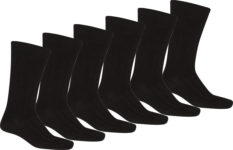 Sakkas Men's Pima Cotton Dress Socks Value Pack 10-13