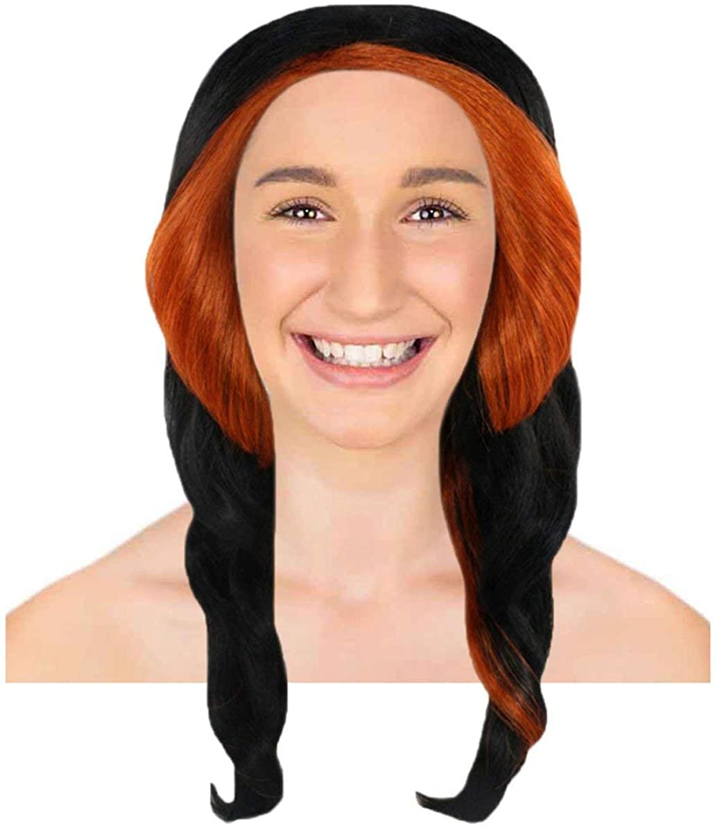 Monster High Skelita Calaveras Wig | Black and Orange TV/Movie Wigs