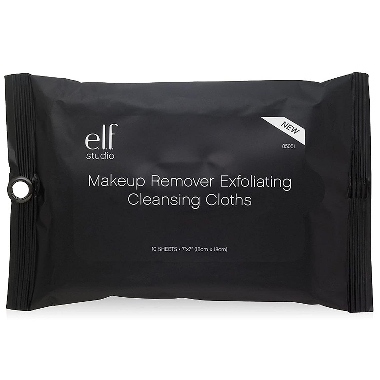 e.l.f. Studio Makeup Remover Exfoliating Cleansing Cloths - Exfoliating Cloth