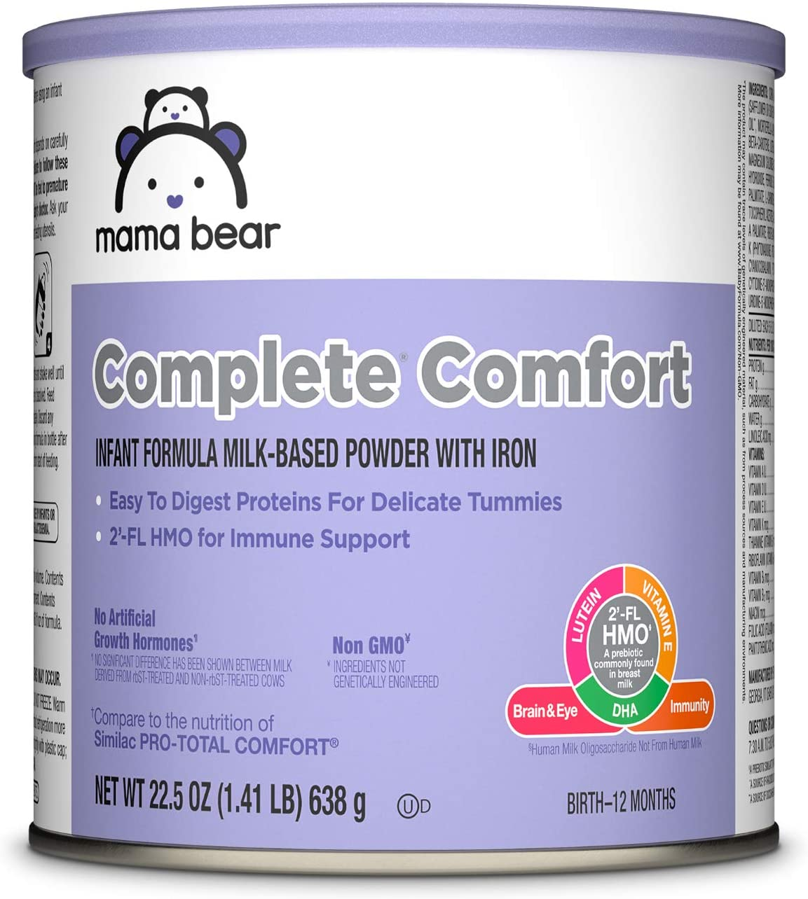 DHgate Brand - Mama Bear Complete Comfort Infant Formula Milk-Based Powder with Iron, 22.5 Ounce