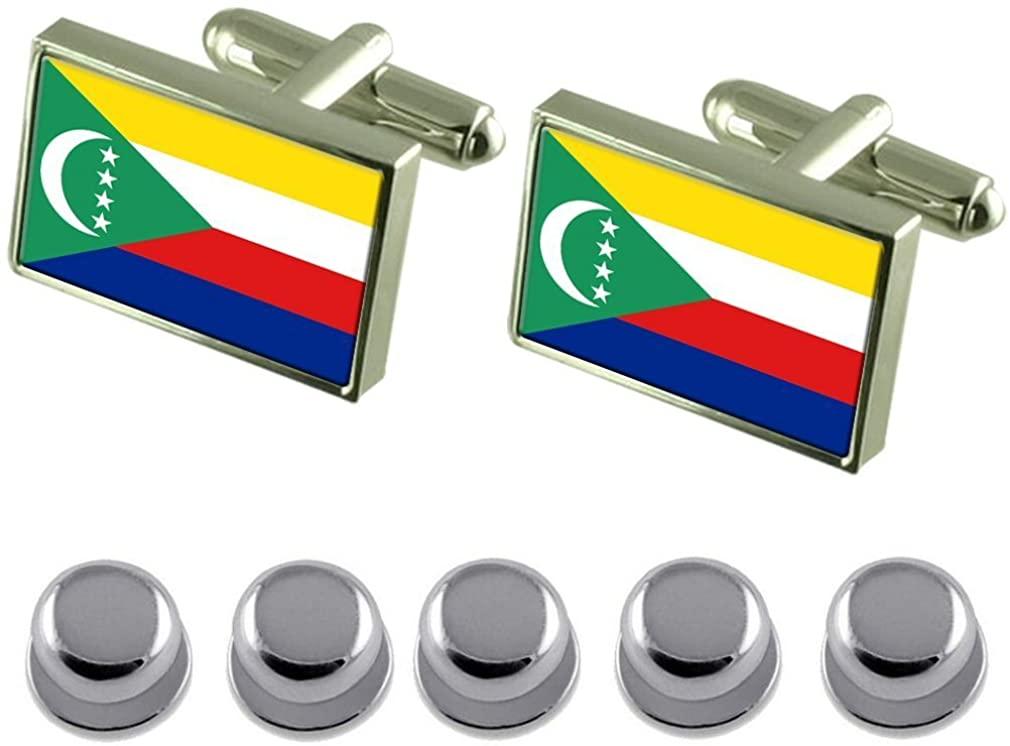 Select Gifts Shirt Dress Studs Comoros Flag Cufflinks