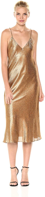 Cynthia Rowley Womens Metallic Slip Dress