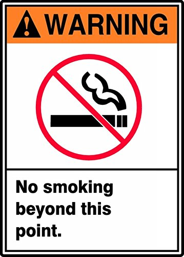 NO SMOKING BEYOND THIS POINT (W/GRAPHIC) (2 Pack)