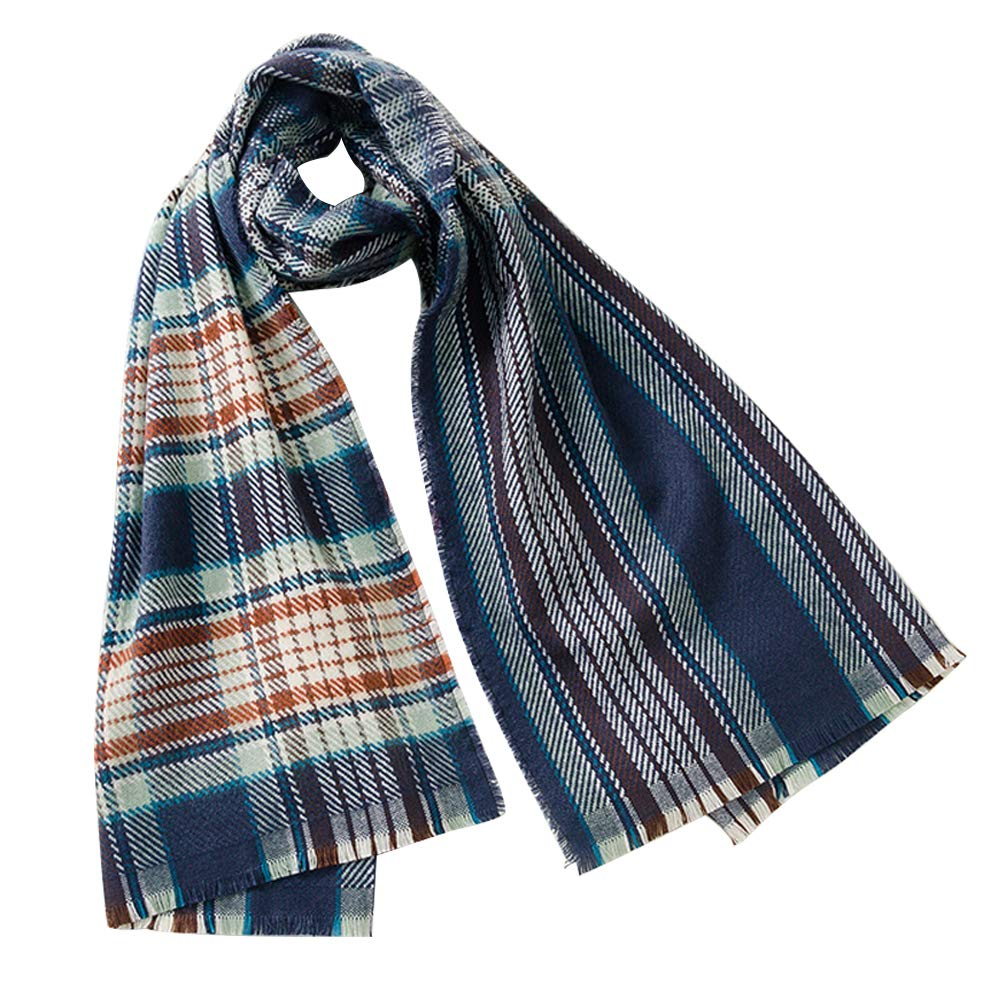 YASSUN Fashion Cashmere Scarf, Winter Plaid Warm Shawl, Ladies and Men's Autumn and Winter Scarves Double Sided Scarf